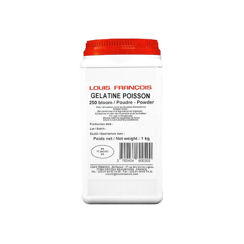 LOUIS FRANCOIS Gelatin Powder, Gold Grade, Halal and Kosher