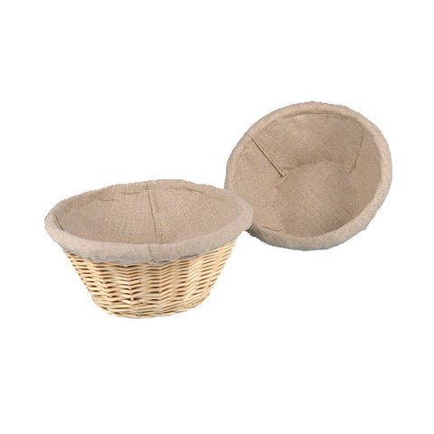 MATFER Round Linen Lined Banneton Bread/Proofing Basket