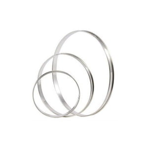 MATFER S/S Tart Ring with Rolled Edges