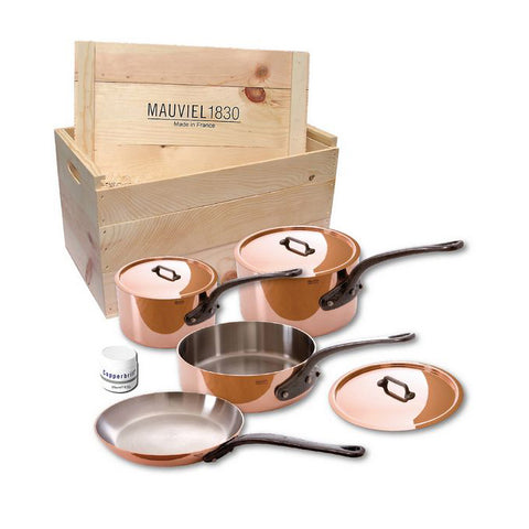 MAUVIEL M'Heritage M'250C 7 piece Copper Cookware Set
