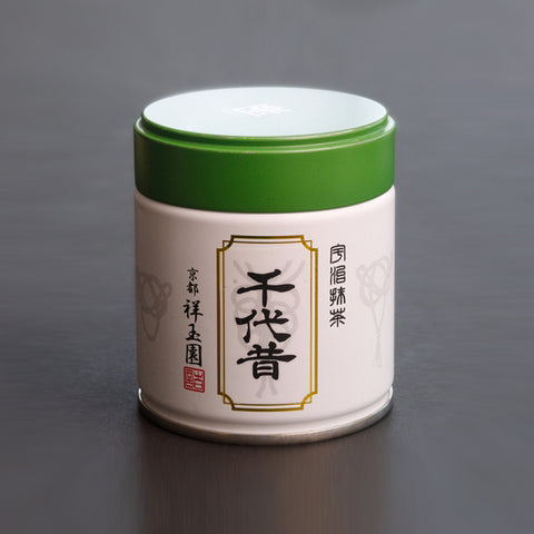 SHOGYOKUEN Ceremonial Grade Matcha, Powdered Green Tea, #4 Chiyomukashi, 40g