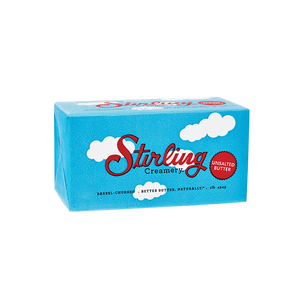 STIRLING CREAMERY Unsalted Butter 80% Fat, 454g
