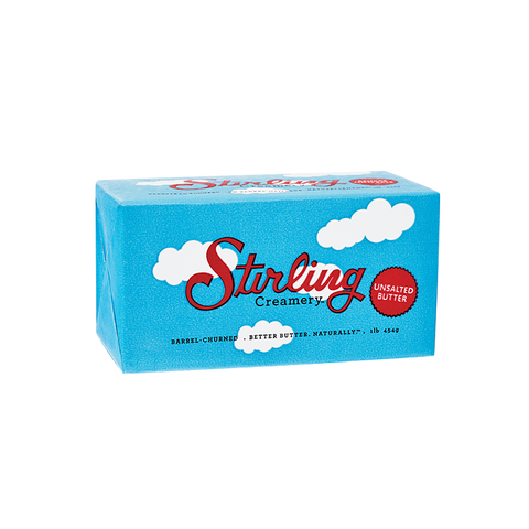 STIRLING CREAMERY Unsalted Butter 80% Fat