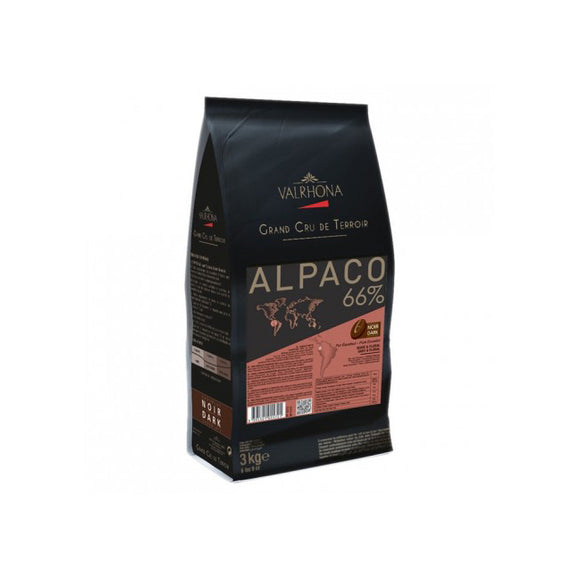 VALRHONA Alpaco 66%, Dark Chocolate Couverture