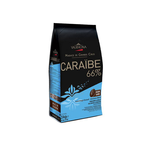 VALRHONA Caraibe 66%, Dark Chocolate Couverture