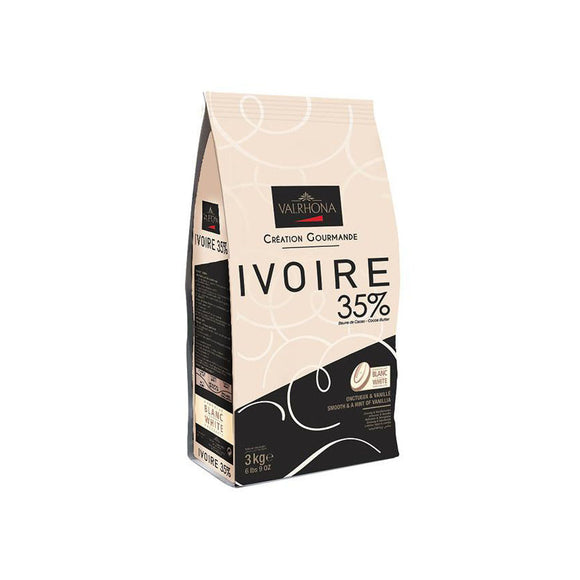 VALRHONA Ivoire 35%, White Chocolate Couverture