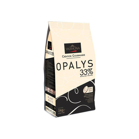 VALRHONA Opalys 33%, White Chocolate Couverture