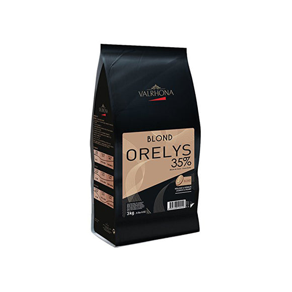 VALRHONA Orelys 35%, Blond Chocolate Couverture