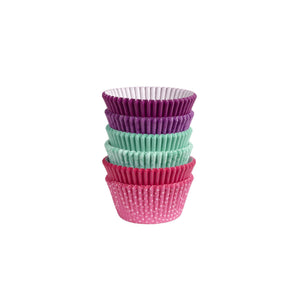 "WILTON 2"" Baking Cups, Pink/ Turquoise/ Purple (pack of 150)"