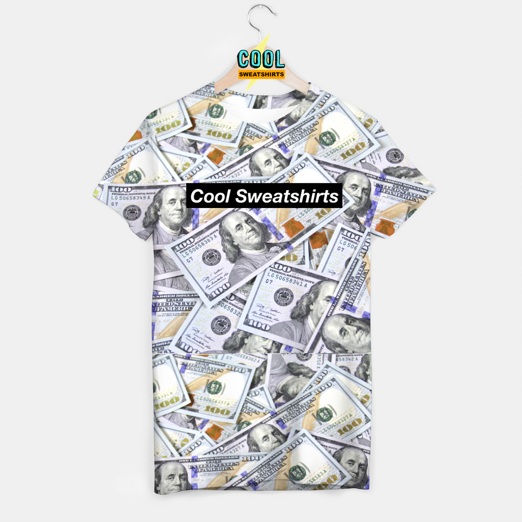 Cool Sweatshirts: $100 Bills Benjamins Money Shirt