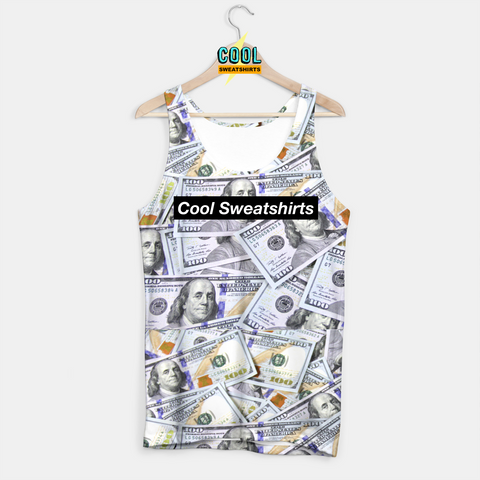 Cool Sweatshirts: $100 Bills Benjamins Money Tank