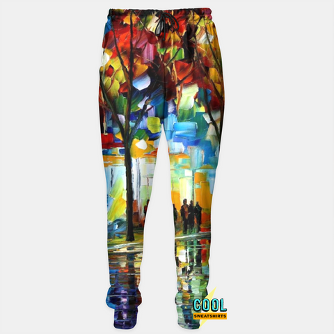 Cool Sweatshirts: A Night On The Town Canvas Painting Joggers