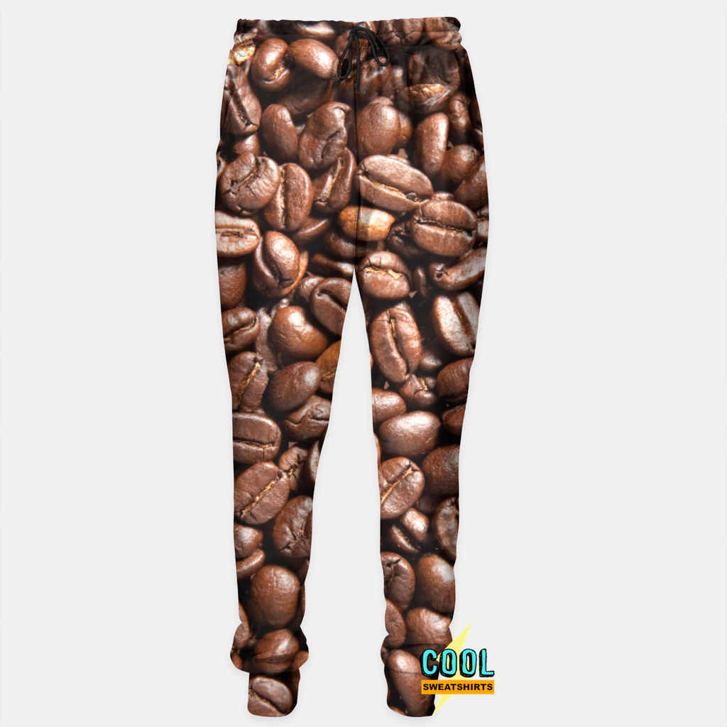 Cool Sweatshirts: Addicted To Coffee Joggers Sweatpants Coffee Beans