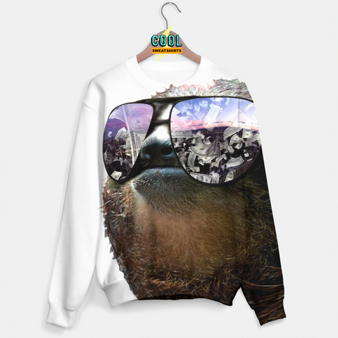 Cool Sweatshirts: All I See Is Money Sloth Sweater