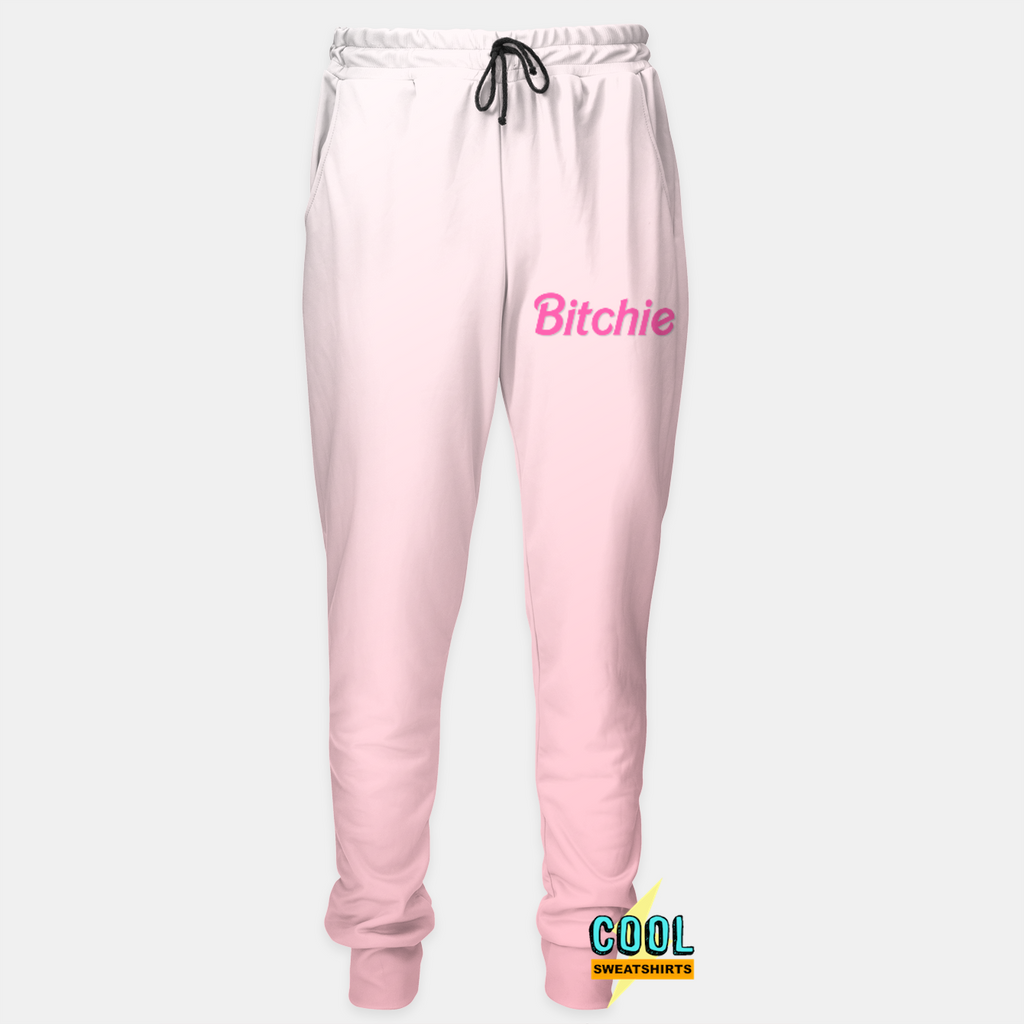 Cool Sweatshirts: Bitchie Joggers Sweatpants Sweats Barbie Parody, Pink, Bratz Doll