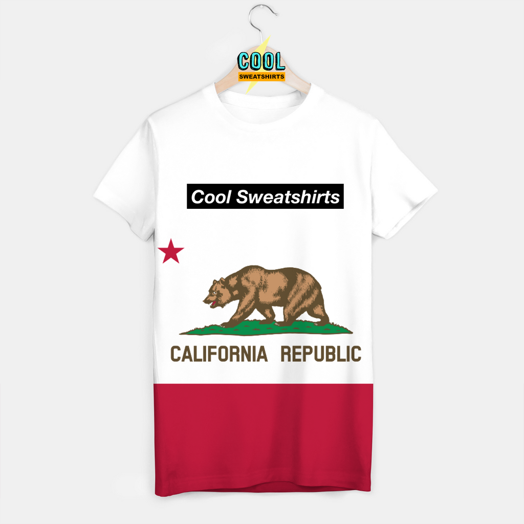 Cool Sweatshirts: California Republic Flag Shirt America