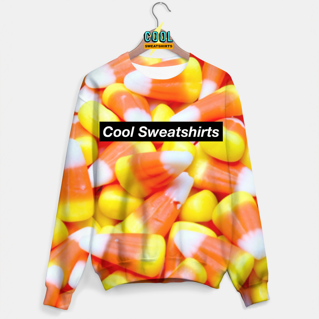 Cool Sweatshirts: Candy Corn Sweater Halloween Candy Sweets Food