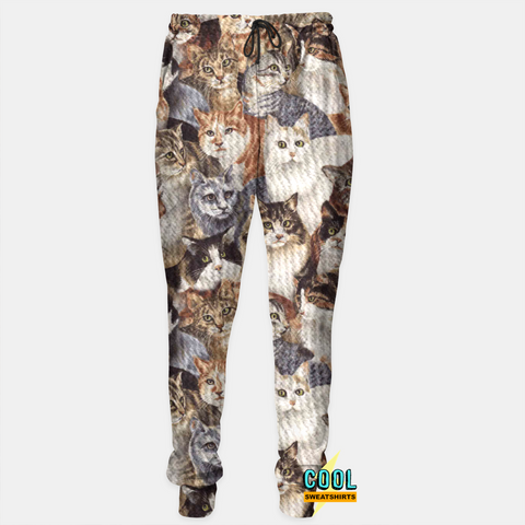 Cool Sweatshirts: Cats On Cats On Cats Joggers Sweatpants
