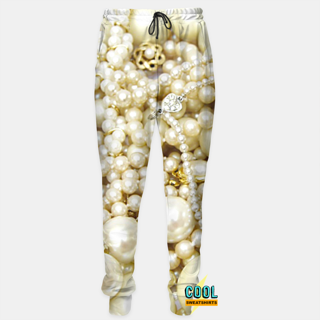 Cool Sweatshirts: Classy Pearls Joggers Sweatpants SexySweaters, Sexy Sweaters, EDM, Rave, Ugly Christmas Sweaters, Meme Clothes, Mr. Gugu & Miss Go
