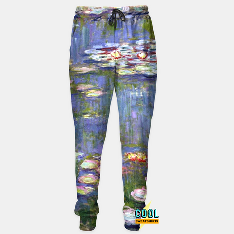 Cool Sweatshirts: Claude Monet Water Lilies Joggers SexySweaters, Sexy Sweaters, EDM, Rave, Ugly Christmas Sweaters, Meme Clothes, Mr. Gugu & Miss Go