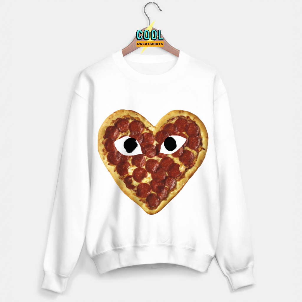Cool Sweatshirts: Comme Des Pizza Sweater Garcon SexySweaters, Sexy Sweaters, EDM, Rave, Ugly Christmas Sweaters, Meme Clothes, Mr. Gugu & Miss Go