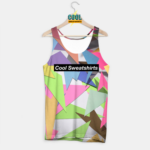 Cool Sweatshirts for men & women: 90s colorful colors cut-out tank SexySweaters, Sexy Sweaters, EDM, Rave, Ugly Christmas Sweaters, Meme, Mr. Gugu & Miss Go, Hype Beast, HypeBeast