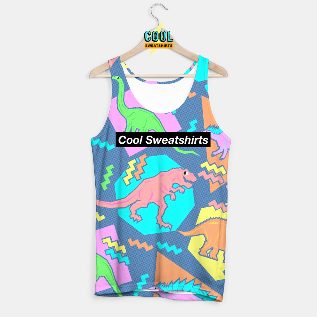 Cool Sweatshirts for men & women: Dinosaur Tank 90s 80s Print Pattern, SexySweaters, Sexy Sweaters, EDM, Rave, Ugly Christmas Sweaters, Meme, Mr. Gugu & Miss Go, HypeBeast