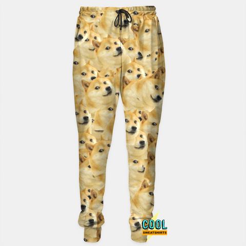 Cool Sweatshirts for men & women: Doge Joggers Sweatpants, Meme, SexySweaters, Sexy Sweaters, EDM, Rave, Ugly Christmas Sweaters, Meme, Mr. Gugu & Miss Go, HypeBeast