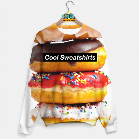 Cool Sweatshirts for men & women: Donut Stack, SexySweaters, Sexy Sweaters, EDM, Rave, Ugly Christmas Sweaters, Meme, Mr. Gugu & Miss Go, HypeBeast