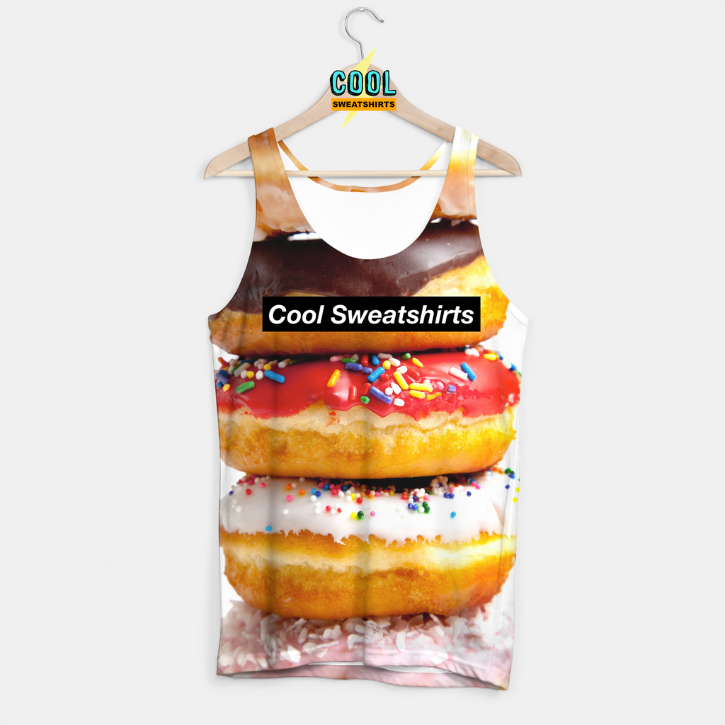 Cool Sweatshirts for men & women: Donut Stack Tank, SexySweaters, Sexy Sweaters, EDM, Rave, Ugly Christmas Sweaters, Meme, Mr. Gugu & Miss Go, HypeBeast