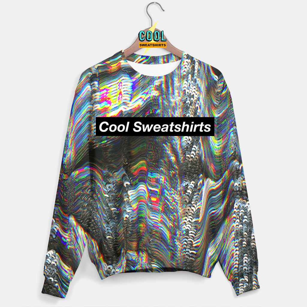 Cool Sweatshirts for men & women: Electric Holographic Sweater, SexySweaters, Sexy Sweaters, EDM, Rave, Ugly Christmas Sweaters, Meme, Mr. Gugu & Miss Go, HypeBeast