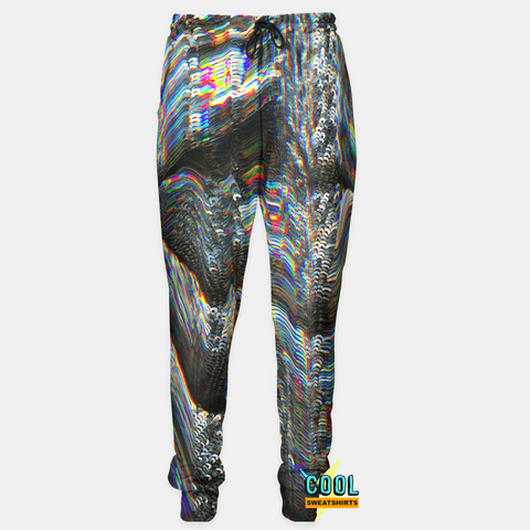Cool Sweatshirts for men & women: Electric Holographic Joggers Sweatpants, SexySweaters, Sexy Sweaters, EDM, Rave, Ugly Christmas Sweaters, Meme, Mr. Gugu & Miss Go, HypeBeast, Electro Threads