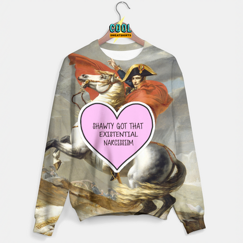 Cool Sweatshirts: Napoleon Existential Narcissism Sweater Molly, MDMA, Rave, EDM, Festivals, Party, Drugs