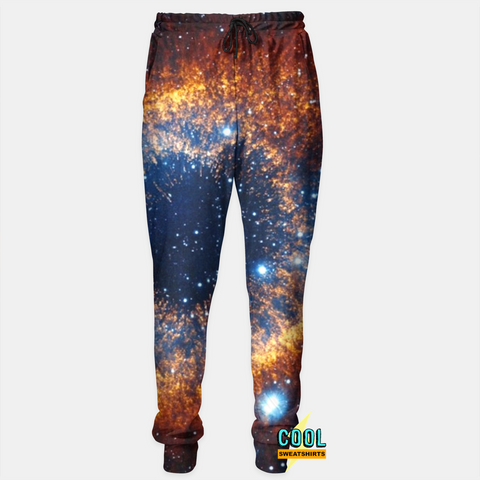 Cool Sweatshirts for men & women: Eye Of The Cosmos Galaxy Joggers Sweatpants, Nebula, Space, SexySweaters, Sexy Sweaters, EDM, Rave, Ugly Christmas Sweaters, Meme, Mr. Gugu & Miss Go, HypeBeast