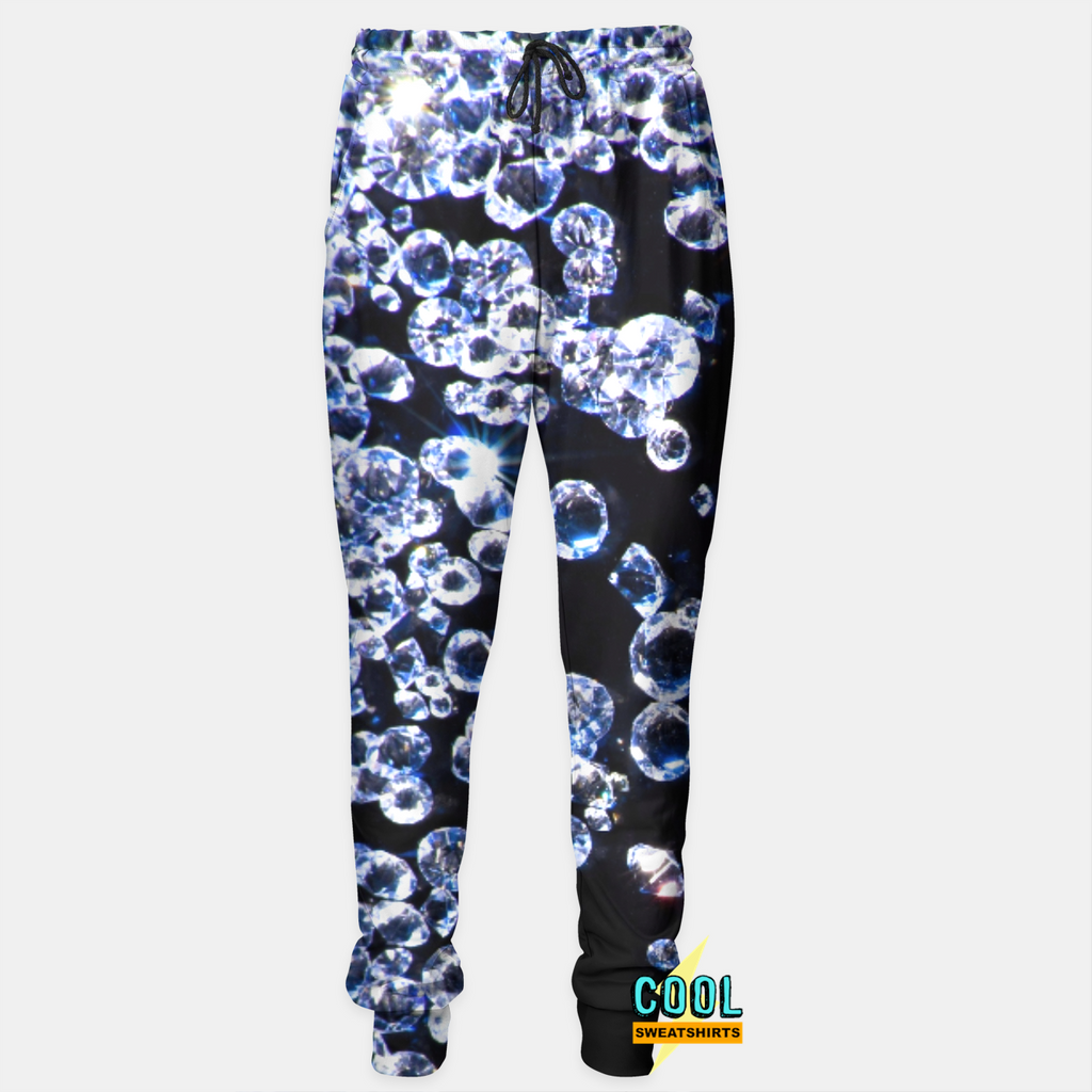 Cool Sweatshirts for men & women: Flawless Diamonds Joggers Sweatpants, Bling, SexySweaters, Sexy Sweaters, EDM, Rave, Ugly Christmas Sweaters, Meme, Mr. Gugu & Miss Go, HypeBeast