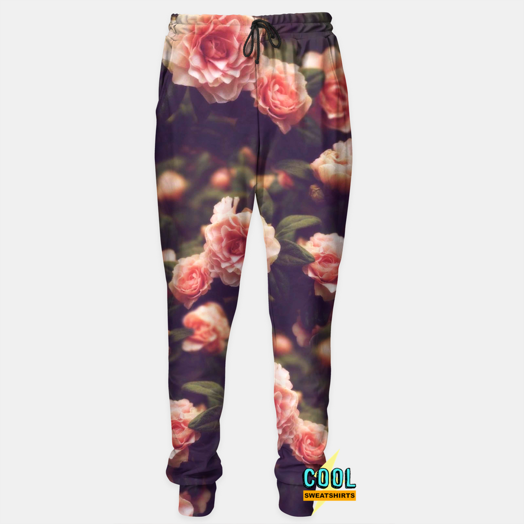 Cool Sweatshirts for men & women: Floral Flowers Joggers Sweatpants, SexySweaters, Sexy Sweaters, EDM, Rave, Ugly Christmas Sweaters, Meme, Mr. Gugu & Miss Go, HypeBeast