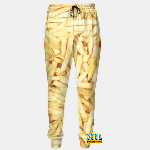 Cool Sweatshirts for men & women: French Fries Joggers Sweatpants, SexySweaters, Sexy Sweaters, EDM, Rave, Ugly Christmas Sweaters, Meme, Mr. Gugu & Miss Go, HypeBeast