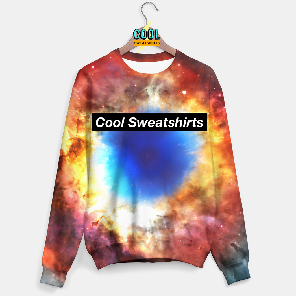 Cool Sweatshirts for men & women: Galaxy Heat Explosion Sweater, Nebula, Space, Cosmos, SexySweaters, Sexy Sweaters, EDM, Rave, Ugly Christmas Sweaters, Meme, Mr. Gugu & Miss Go, HypeBeast