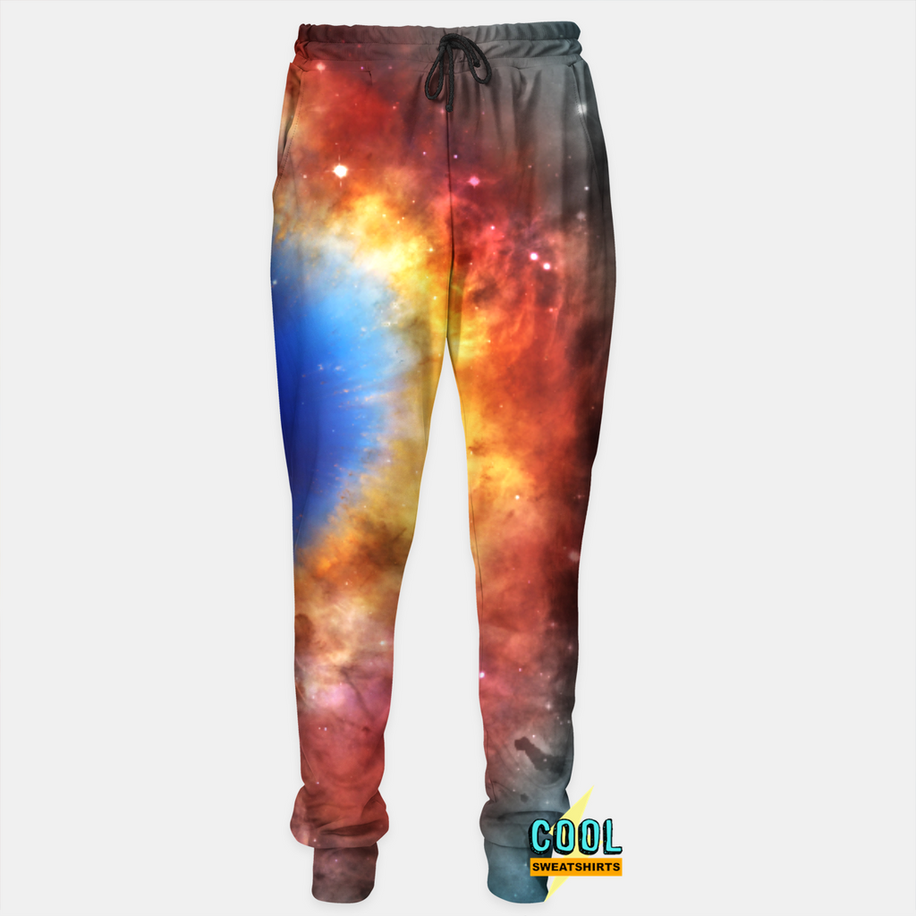 Cool Sweatshirts for men & women: Galaxy Heat Explosion Joggers Sweatpants, SexySweaters, Sexy Sweaters, EDM, Rave, Ugly Christmas Sweaters, Meme, Mr. Gugu & Miss Go, HypeBeast