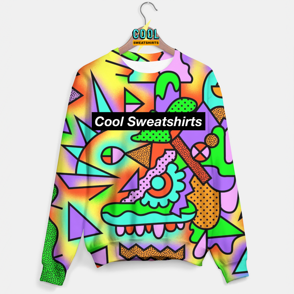 Cool Sweatshirts for men & women: Geometric Sweater, Geo Shapes, SexySweaters, Sexy Sweaters, EDM, Rave, Ugly Christmas Sweaters, Mr Gugu & Miss Go, HypeBeast