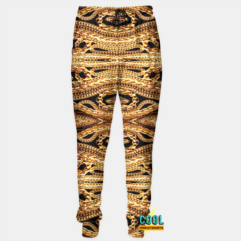 Cool Sweatshirts for men & women: Gold Chains Sweatpants Joggers, SexySweaters, Sexy Sweaters, EDM, Rave, Ugly Christmas Sweaters, Mr Gugu & Miss Go, HypeBeast