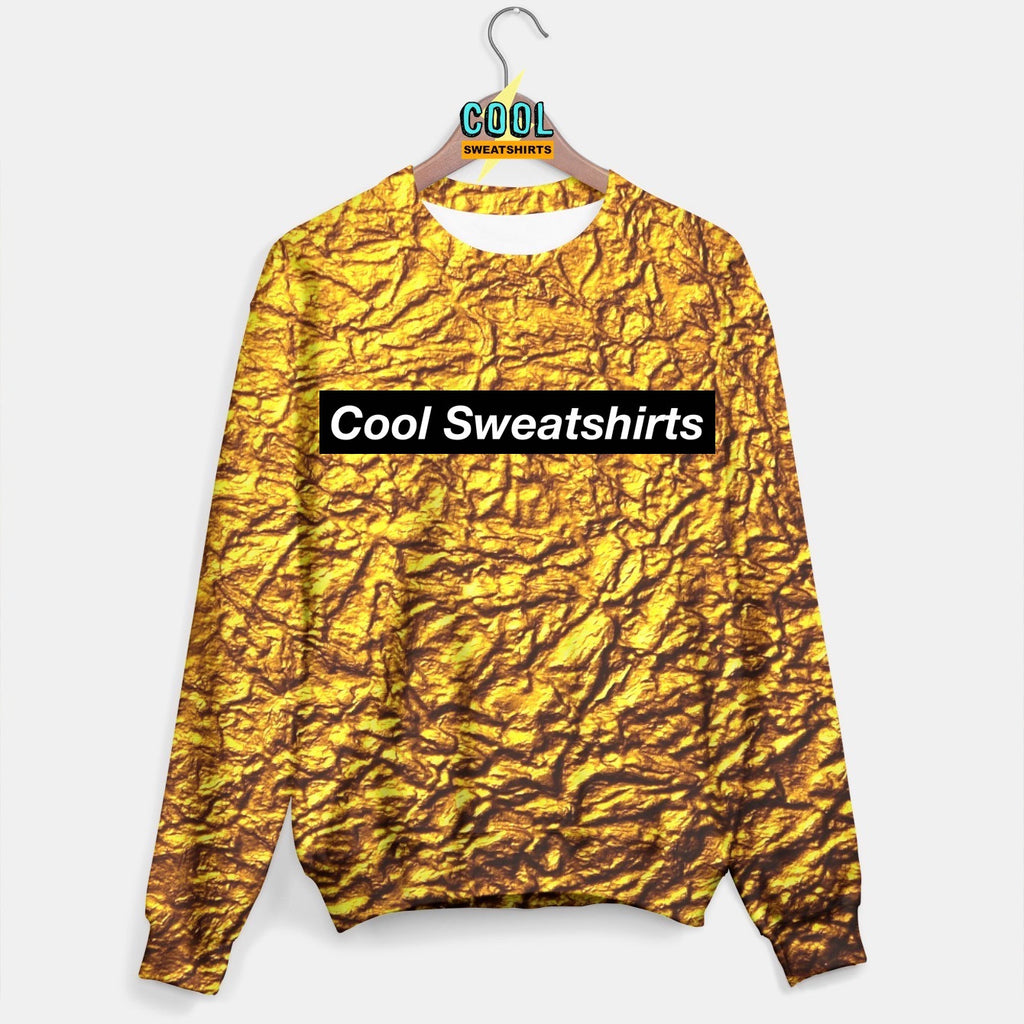 Cool Sweatshirts for men & women: Gold Leaf Nugget Sweater, SexySweaters, Sexy Sweaters, EDM, Rave, Ugly Christmas Sweaters, Mr Gugu & Miss Go, HypeBeast