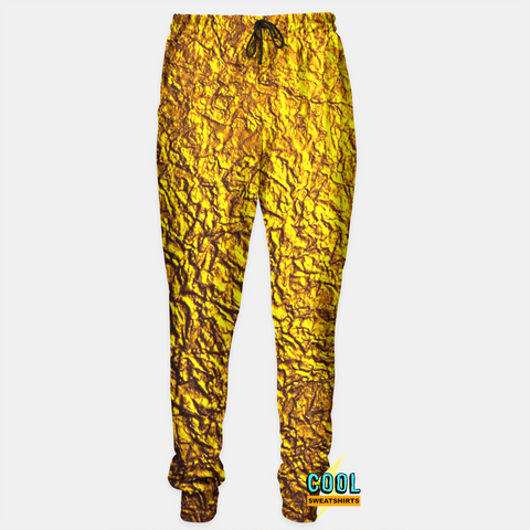 Cool Sweatshirts for men & women: Gold Leaf Nugget Joggers Sweatpants, SexySweaters, Sexy Sweaters, EDM, Rave, Ugly Christmas Sweaters, Mr Gugu & Miss Go, HypeBeast