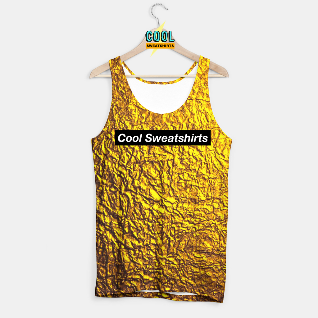 Cool Sweatshirts for men & women: Gold Leaf Nugget Tank, SexySweaters, Sexy Sweaters, EDM, Rave, Ugly Christmas Sweaters, Mr Gugu & Miss Go, HypeBeast