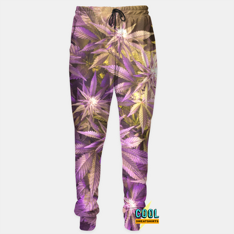 Cool Sweatshirts for men & women: Gold Purp Weed Leaves Joggers Sweatpants, bubba kush, SexySweaters, Sexy Sweaters, EDM, Rave, Ugly Christmas Sweaters, Mr Gugu & Miss Go, HypeBeast