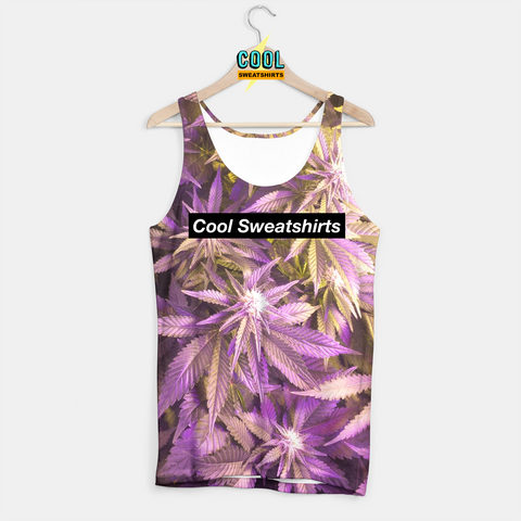 Cool Sweatshirts for men & women: Gold Purp Weed Leaves Tank, SexySweaters, Sexy Sweaters, EDM, Rave, Ugly Christmas Sweaters, Mr Gugu & Miss Go, HypeBeast