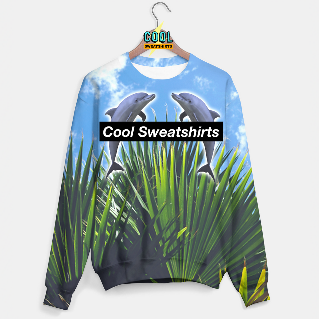 Cool Sweatshirts for men & women: Grass Dolphins Sweater, SexySweaters, Sexy Sweaters, EDM, Rave, Ugly Christmas Sweaters, Mr Gugu & Miss Go, HypeBeast