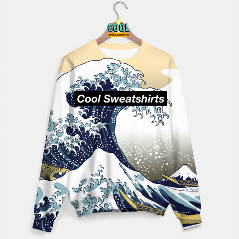 Cool Sweatshirts for men & women: Great Waves Sweater, SexySweaters, Sexy Sweaters, EDM, Rave, Ugly Christmas Sweaters, Mr Gugu & Miss Go, HypeBeast