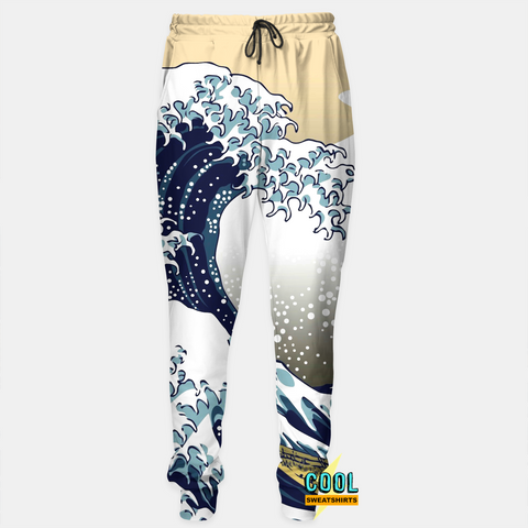 Cool Sweatshirts for men & women: Great Waves Joggers Sweatpants, SexySweaters, Sexy Sweaters, EDM, Rave, Ugly Christmas Sweaters, Mr Gugu & Miss Go, HypeBeast