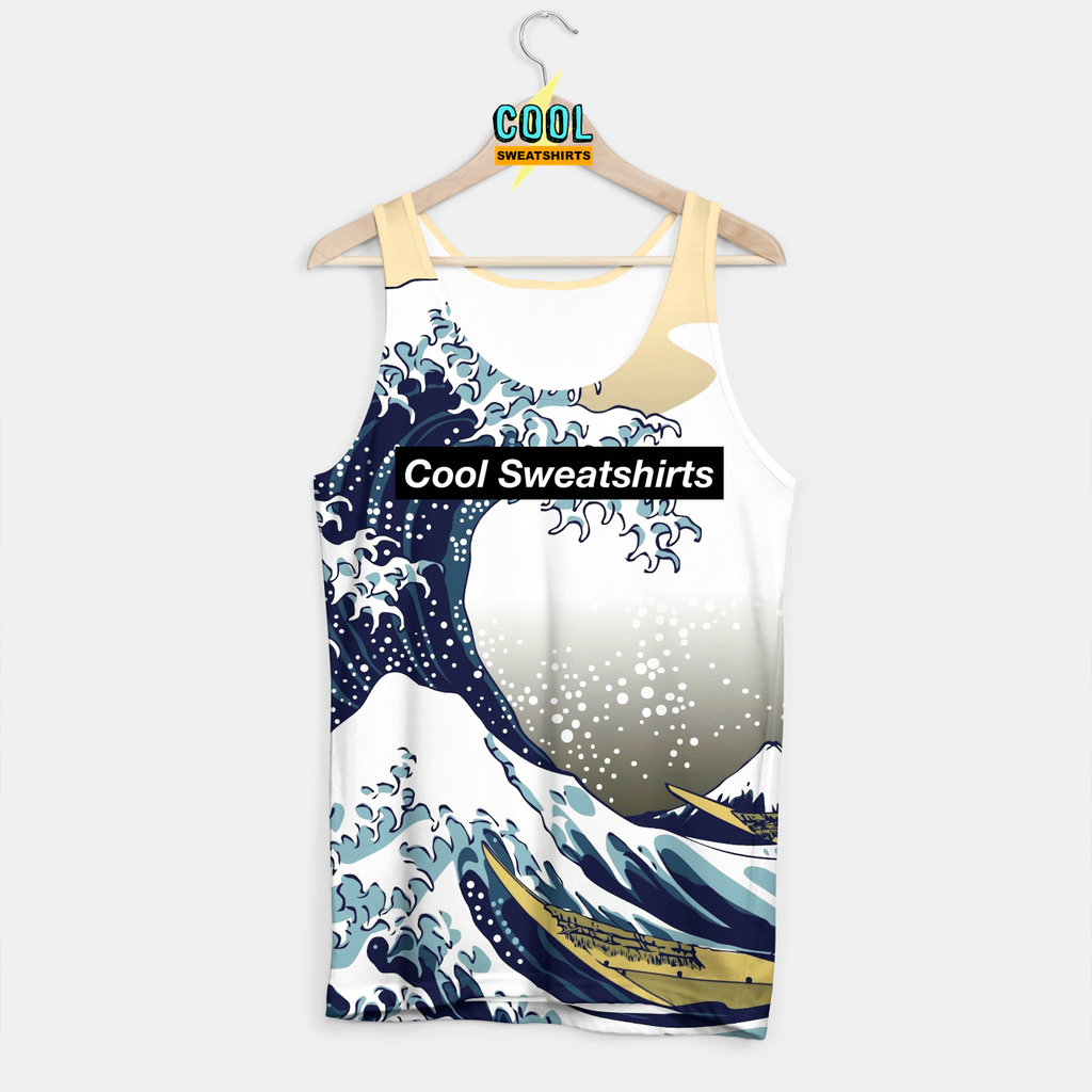 Cool Sweatshirts for men & women: Great Waves Tank, Japanese, SexySweaters, Sexy Sweaters, EDM, Rave, Ugly Christmas Sweaters, Mr Gugu & Miss Go, HypeBeast